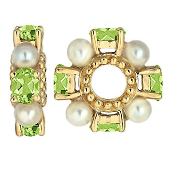 Storywheels Peridot & Pearl 14K Gold Wheel ONLY 1 AVAILABLE!-262736