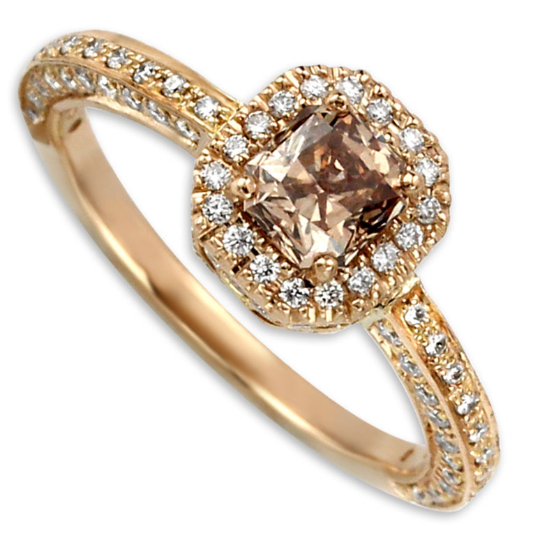 340967-Brown Diamond Ring