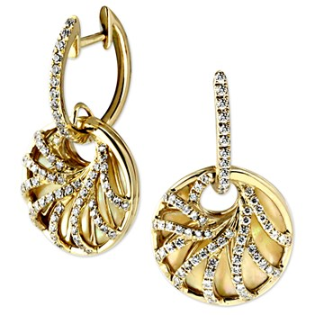 Yellow Venus Earrings-345008