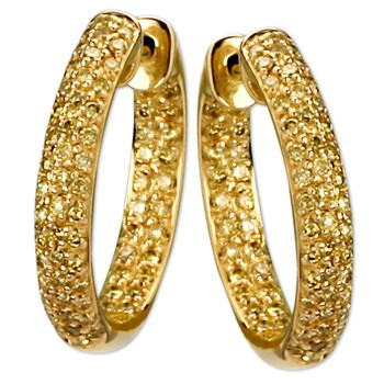 Yellow Diamond Earrings-338543