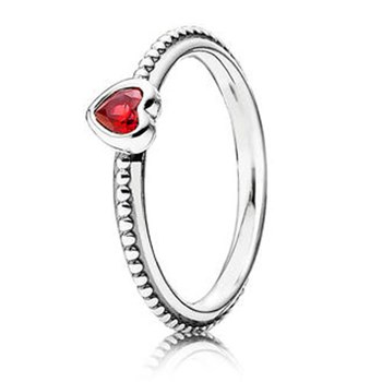 PANDORA One Love with Scarlet Stackable Ring