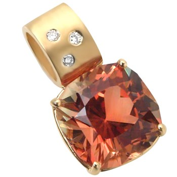 Sunstone Diamond Pendant-261692
