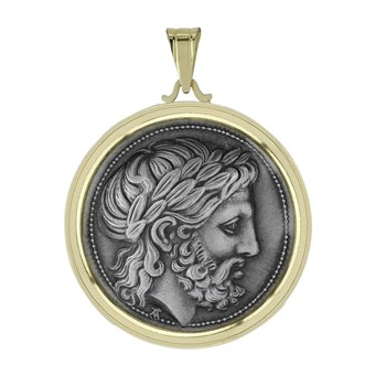 605-1121-Greek Drachma Coin Pendant