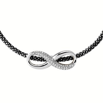 Black Infinity Necklace-344923