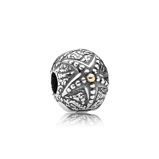 343439-PANDORA Starfish with 14K Clip RETIRED LIMITED QUANTITIES!