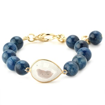 344586-Lollies Blue Quartz Bracelet