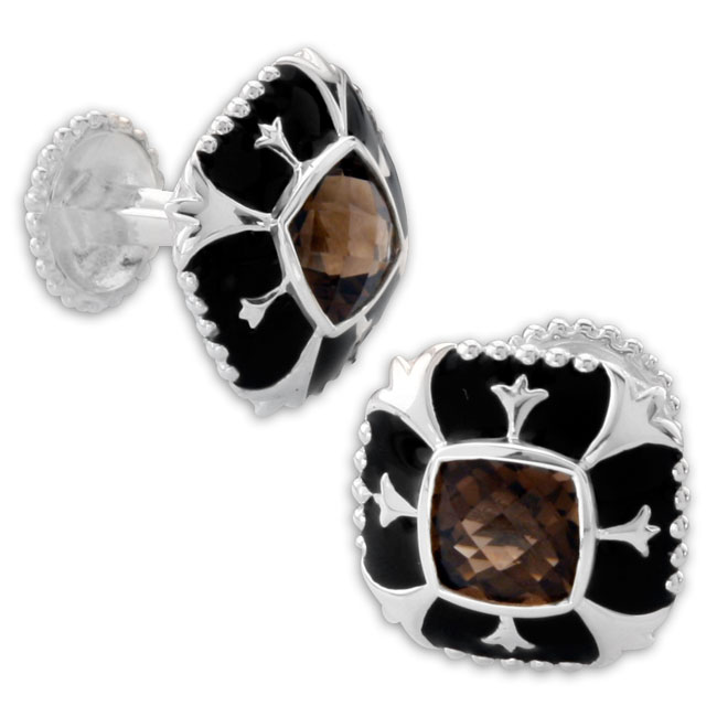 335567-Smokey Quartz Cufflinks