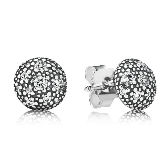 348208-PANDORA Cosmic Stars with Clear CZ Stud Earrings