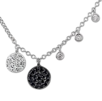 338574-Black & White Small Disc Necklace