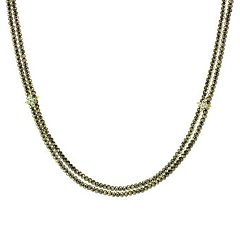 Double Pyrite Necklace-235-704