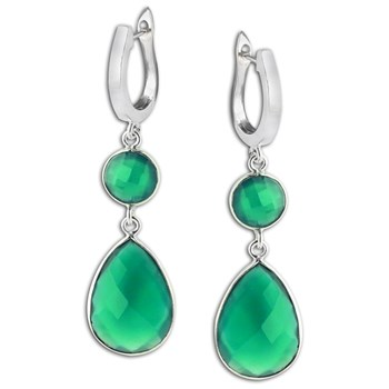 347417-Green Onyx Earrings