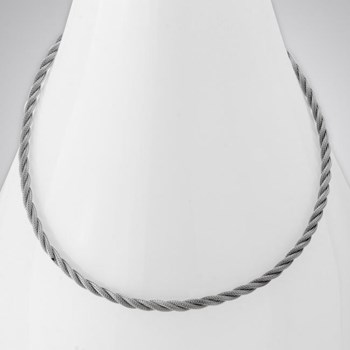 343288-Rhodium Rope Twist Necklace ONLY 5 LEFT!