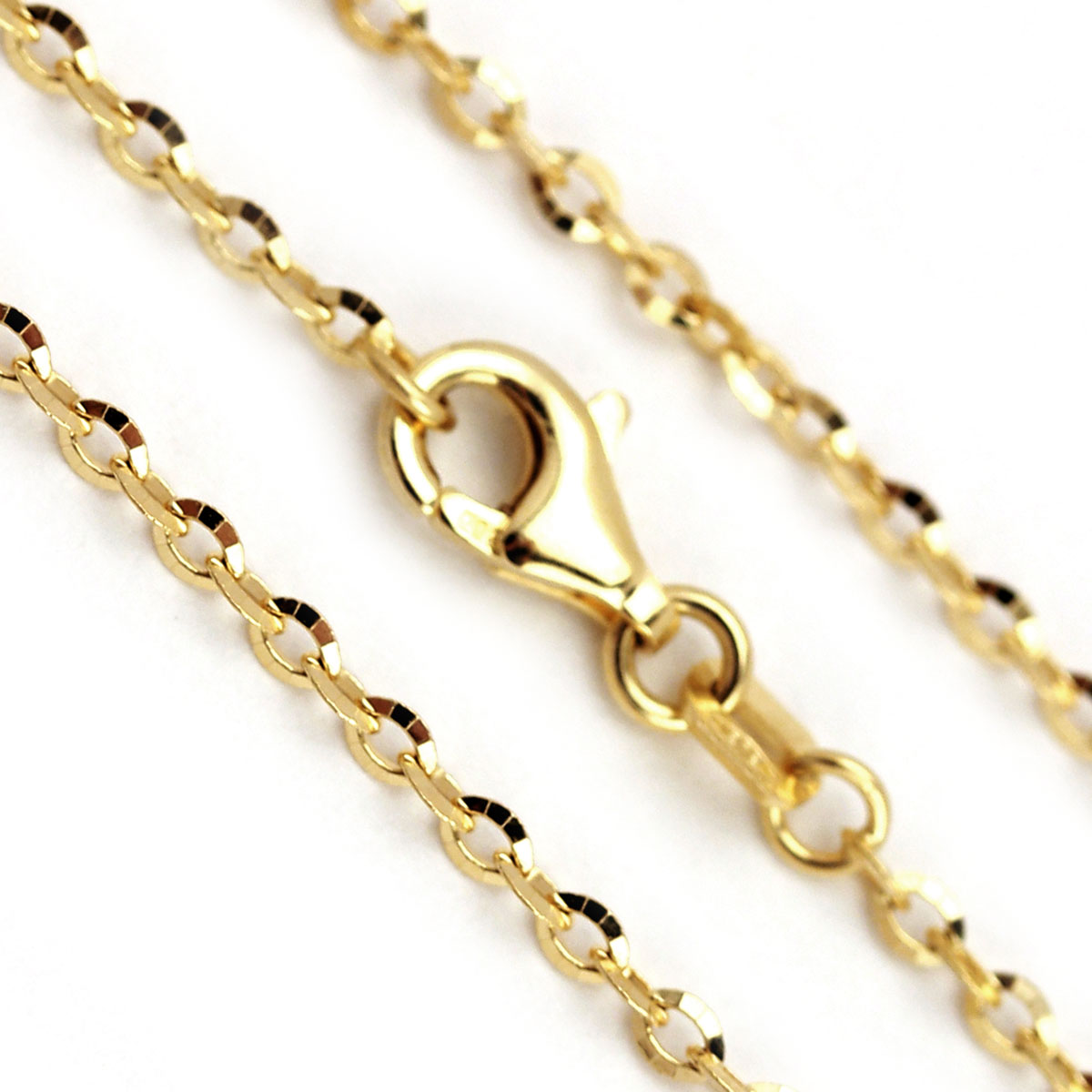 341835-20'' 14K Yellow Gold Star Bright Chain