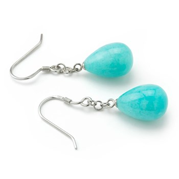 Large Amazonite Chain Earrings-645-746