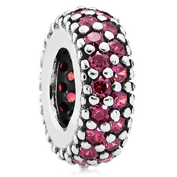 PANDORA Inspiration Within with Red CZ Spacer-802-3118