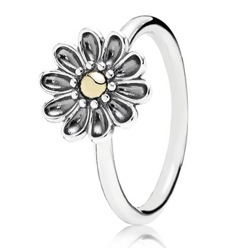 PANDORA Oopsie Daisy with 14K Stackable Ring RETIRED