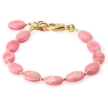 344951-Lollies Breast Cancer Awareness Pink Rhodocrosite Bracelet