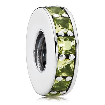 802-3074-PANDORA Eternity with Olive Green Crystal Spacer