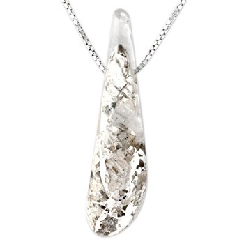 Silver in Quartz Pendant-343395