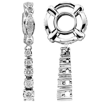 Storywheels Diamond Journey Dangle 14K White Gold Wheel ONLY 1 AVAILABLE!-285544