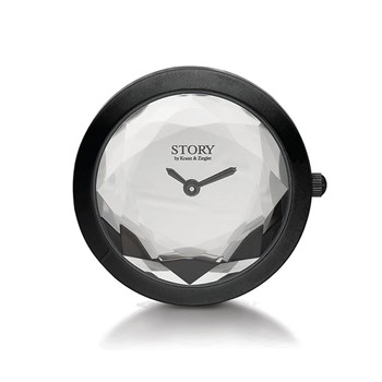 STORY by Kranz & Ziegler Black Rhodium Crystal Clock Button