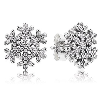 PANDORA Snowflake Earrings-804-426