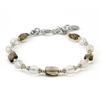 Rose & Smokey Quartz Bracelet-240-3324