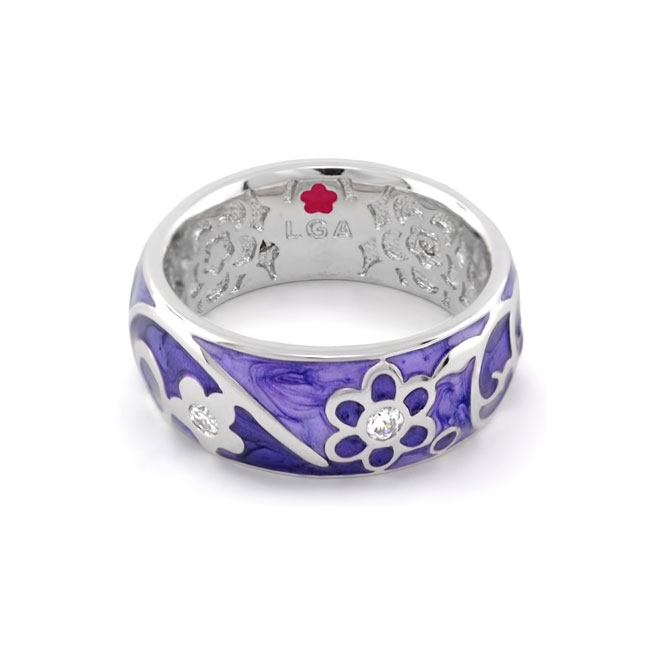 343246-Purple 'Daisy Swirl' Ring
