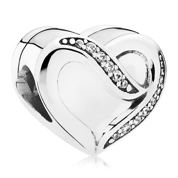 PANDORA Ribbon of Love with Clear CZ Charm