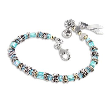Prostate/Thyroid Cancer Miyuki Style Awareness Bracelet-179317
