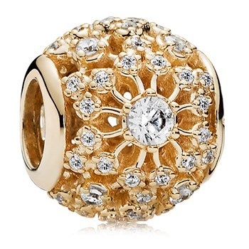 PANDORA 14K Inner Radiance with Clear CZ Charm-806-83