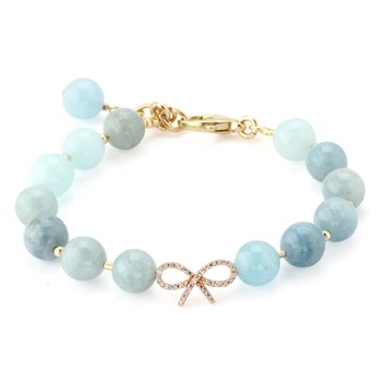 346081-Lollies Aquamarine Bow Bracelet