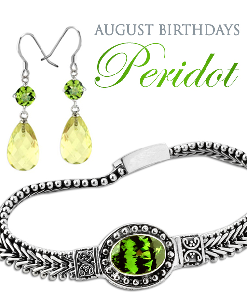 August Birthstone Jewelry