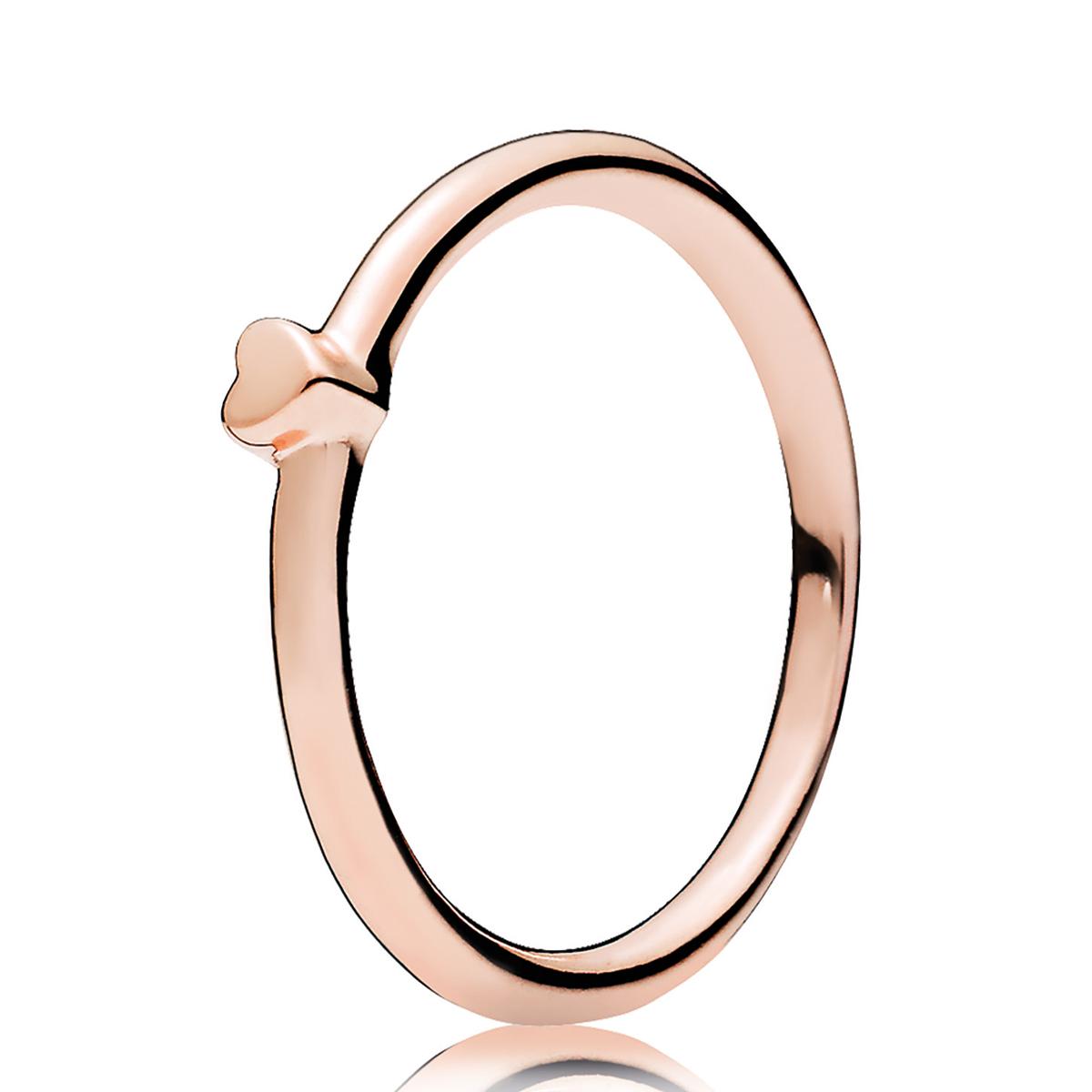 PANDORA Rose Gold Puzzle Heart Ring - Pancharmbracelets.com