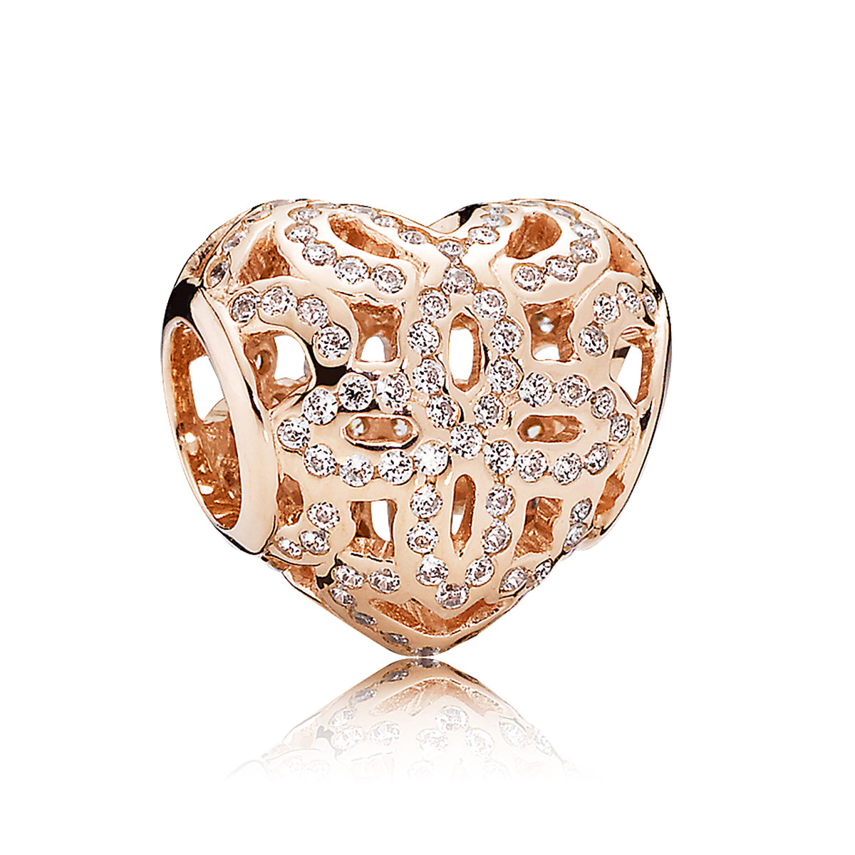 pandora charms rose gold clips