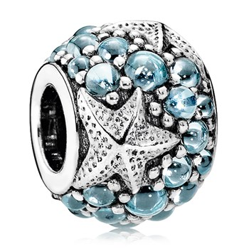 PANDORA Oceanic Starfish with Frosty Mint CZ Charm