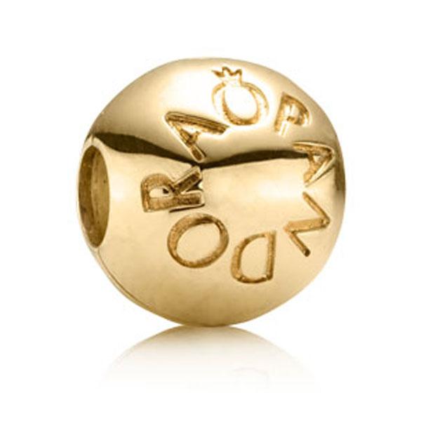Pandora gold beads