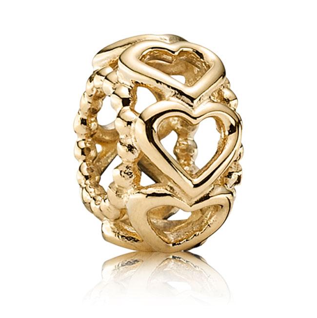 PANDORA 14KT Gold Charms Pancharmbracelets