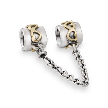 PANDORA Heart with 14K Safety Chain-210386