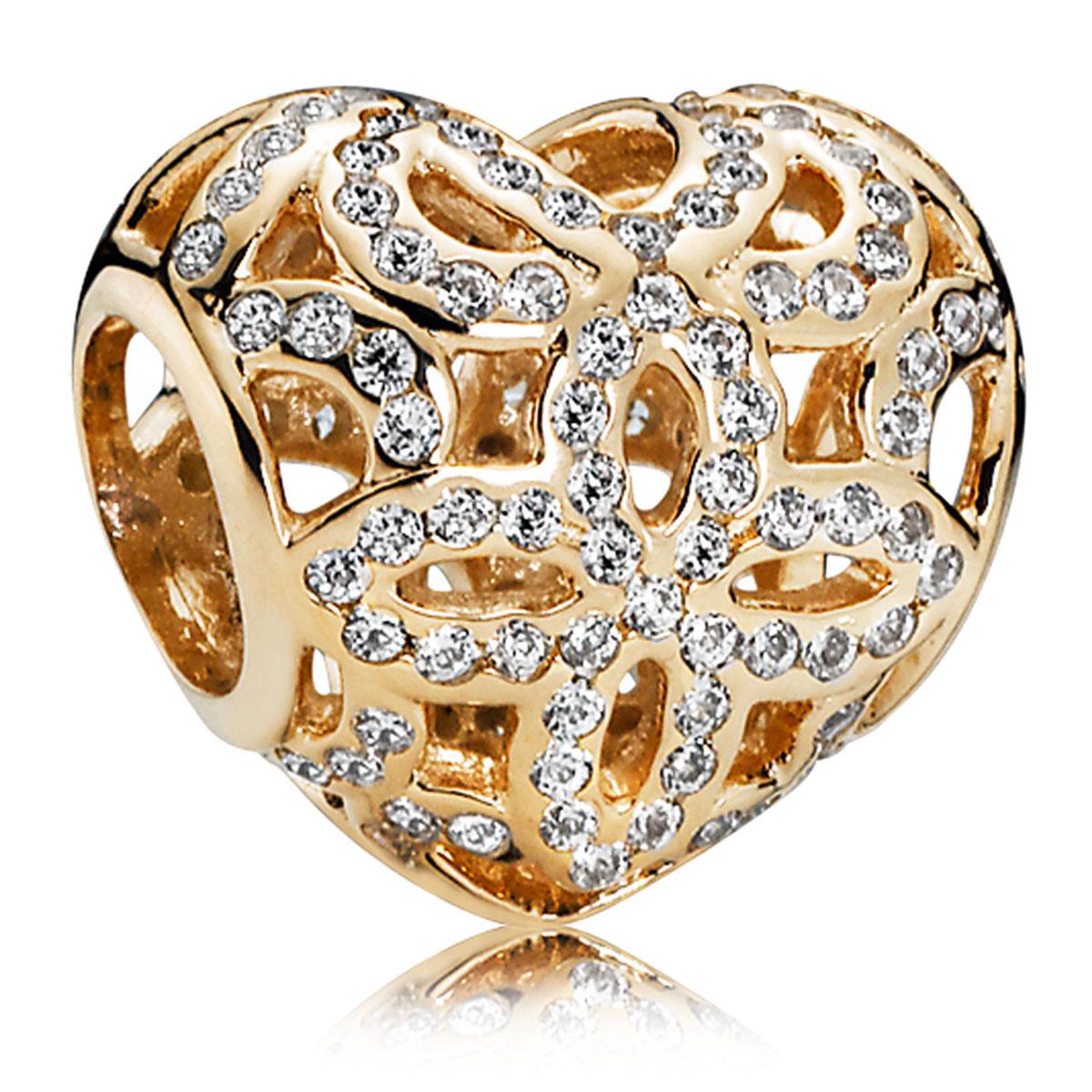 gold pandora charms