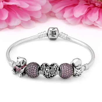 PANDORA A Mother's Love from Daughter Charm Bracelet-1264