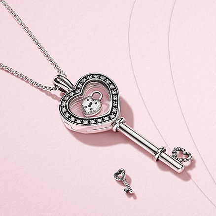 pandora key and lock charm