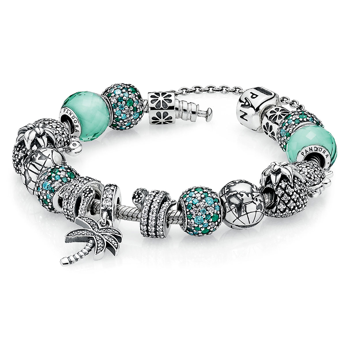 PANDORA Caribbean Cool Charm Bracelet-1267 - Pancharmbracelets.com
