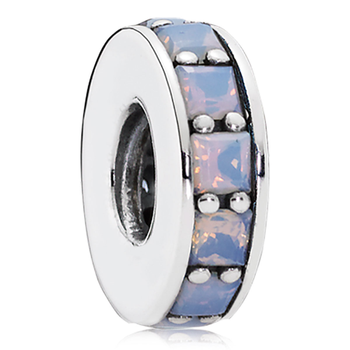 802-3303 - PANDORA Eternity with Opalescent White Crystal Spacer