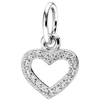 PANDORA Be My Valentine with Clear CZ Stories Pendant-342088