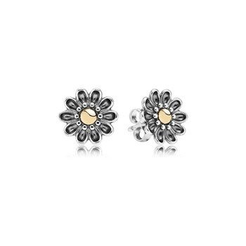 346523-PANDORA Oopsie Daisy with 14K Stud Earrings RETIRED ONLY 1 PAIR LEFT!