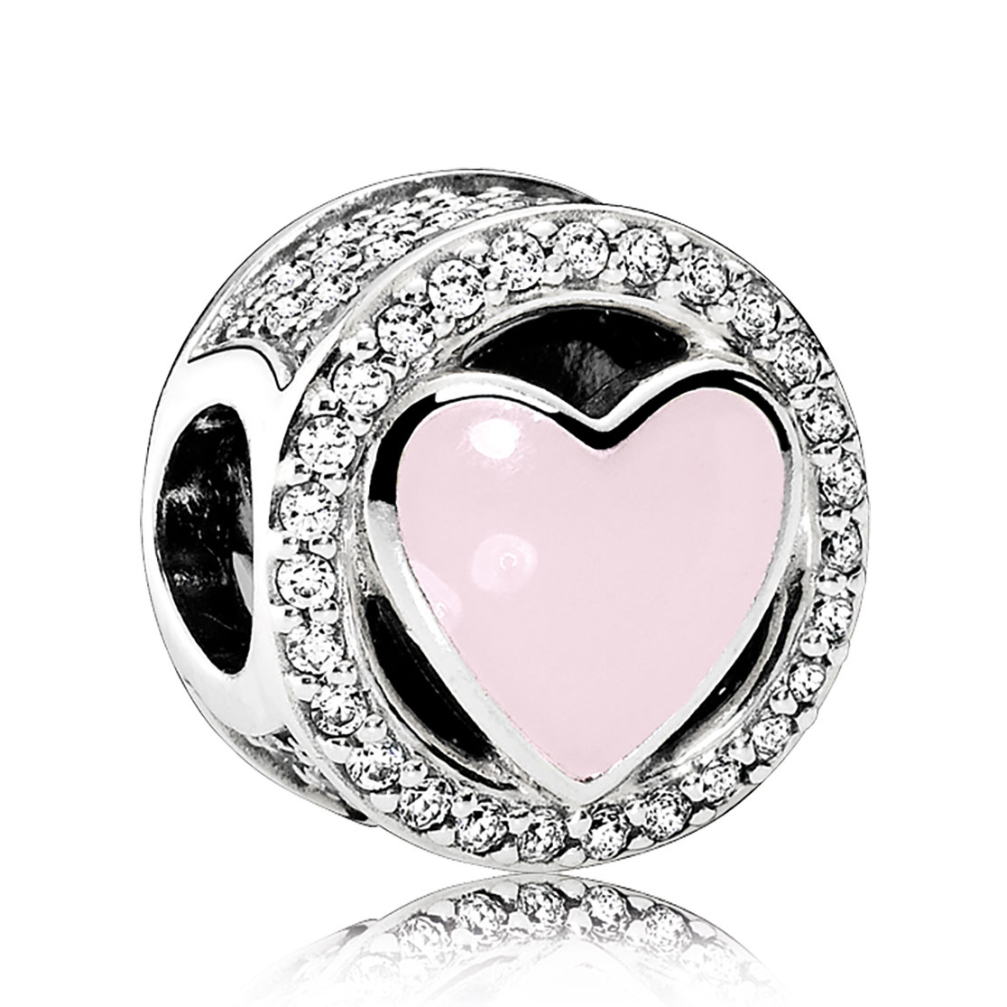 PANDORA Wonderful Love, Soft Pink Enamel U0026amp; ...
