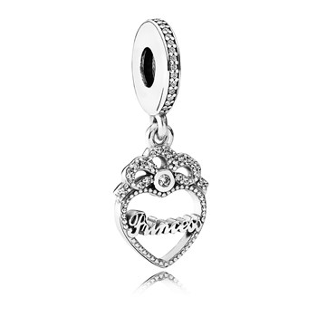 PANDORA Princess Crown Heart with Clear CZ