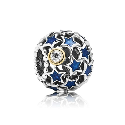 PANDORA Night Sky with 14K CZ Openwork Charm