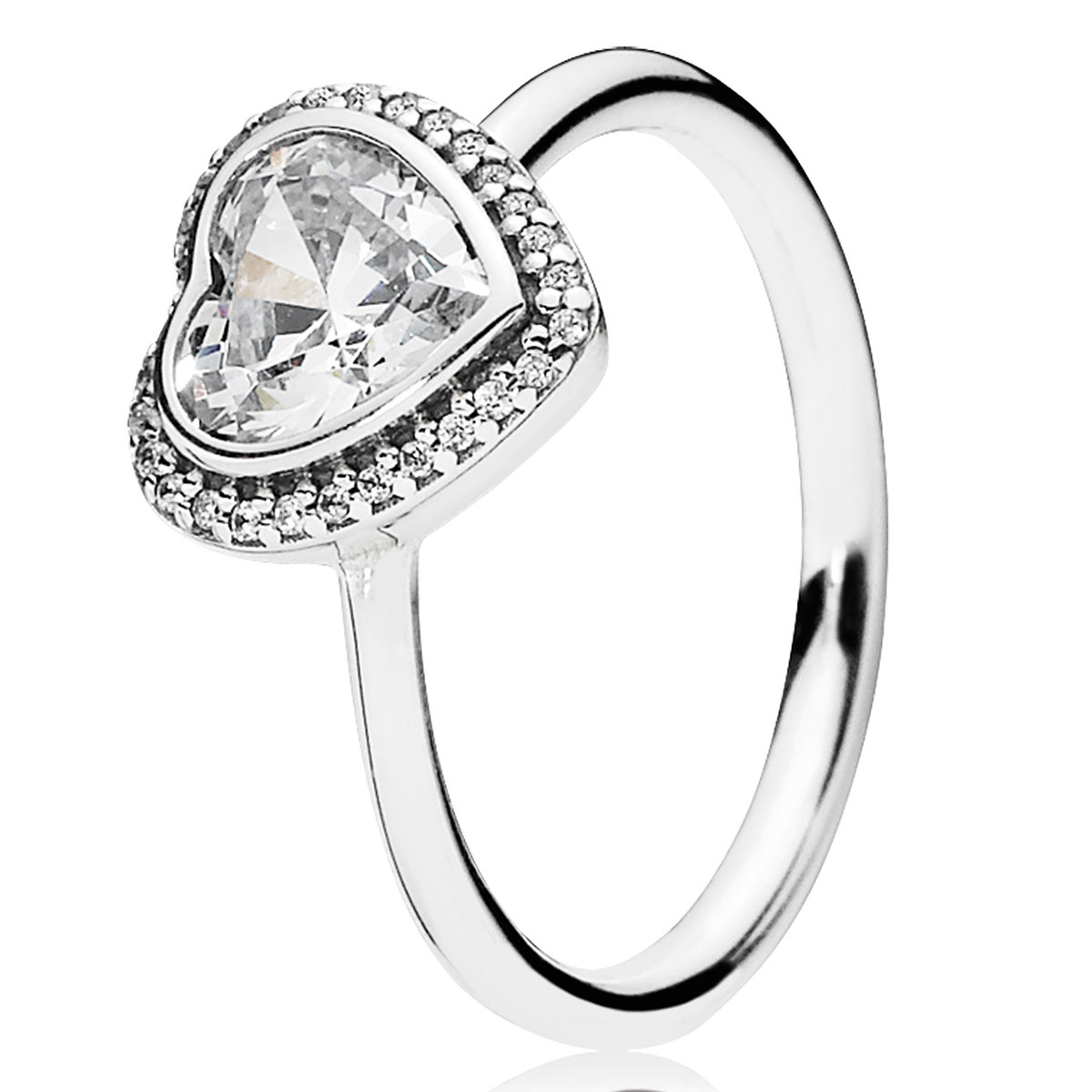 PANDORA Sparkling Love with Clear CZ Ring - Pancharmbracelets.com
